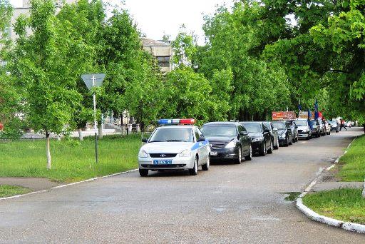 организован автопробег по местам боевой славы